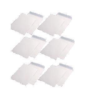Pachet PROMO 250 plicuri B4 siliconice, 90 g/mp, 250 x 353 mm, albe, GPV