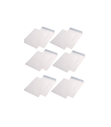 Pachet 250 plicuri B4 siliconice, 90 g/mp, 250 x 353 mm, albe, GPV