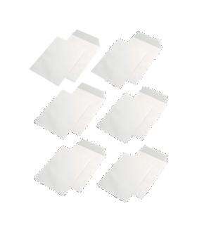 Pachet PROMO 500 plicuri C5 siliconice, deschidere pe latura mica, 90 g/mp, 162 x 229 mm, albe GPV