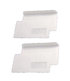 Pachet PROMO 1000 plicuri DL autoadezive cu fereastra dreapta, 80 g/mp, 110 x 220 mm, albe GPV