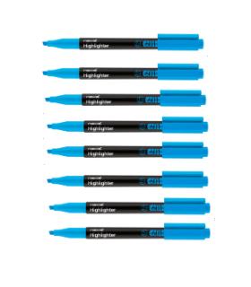 Pachet PROMO 12 textmarker 601 albastru, varf tesit 1.0 - 4.0 mm MONAMI