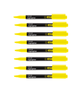 Pachet PROMO 12 textmarker 601 galben varf tesit 1.0 - 4.0 mm MONAMI