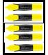 Pachet 12 textmarker galben, varf tesit 1.0 - 6.0 mm MONAMI