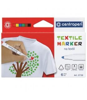 Set 6 markere textile 2739 CENTROPEN