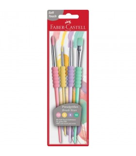 Pensule Soft Touch Pastel set 4 FABER CASTELL