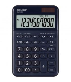 Calculator de birou 10 digits 149 x 100 x 27 mm dual power diverse culori SHARP EL-M335