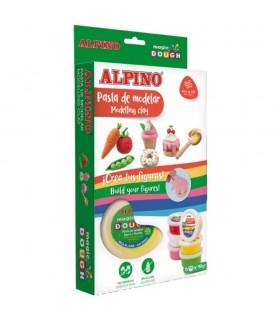 Kit 6 culori x 40gr plastilina magica Foody ALPINO