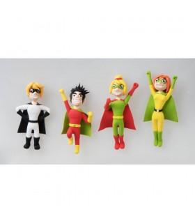 Kit 6 culori x 40gr plastilina magica Super Heroes ALPINO