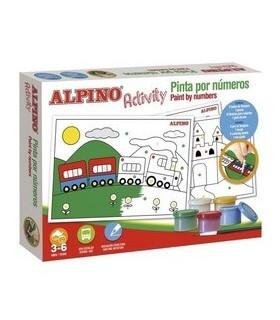 Set creativ pentru copii, Activity - Paint by numbers ALPINO