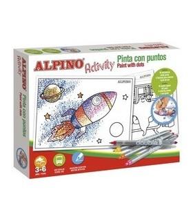 Set creativ pentru copii, Activity - Paint with dots ALPINO