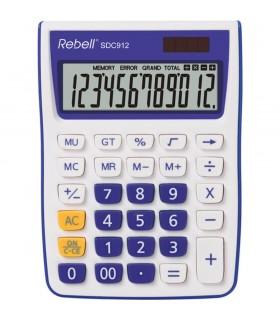 Calculator de birou 12 digits 145 x 104 x 26 mm SDC 912 alb/violet REBELL