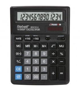 Calculator de birou 14 digits 193 x 143 x 38 mm BDC 514 - negru REBELL