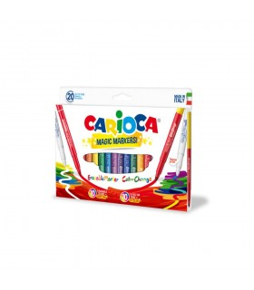 Carioca erasable varf gros - 6mm 9+9+2/cutie Magic Color Change CARIOCA