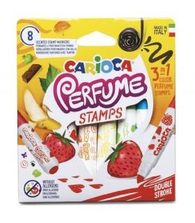 Carioca lavabila parfumata 8 culori/cutie Perfume Stamps CARIOCA