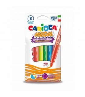 Carioca lavabila varf 1-4.7mm fluorescenta 8 bucati/cutie Neon CARIOCA