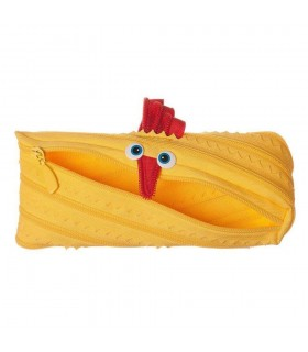 Penar cu fermoar Animals pui galben deschis ZIPIT
