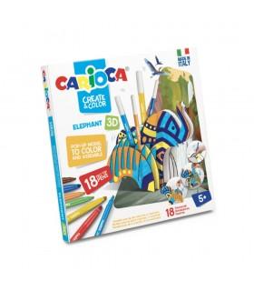 Set articole creative Create & Color - ELEPHANT 3D CARIOCA