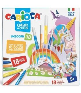 Set articole creative Create & Color - UNICORN 3D CARIOCA