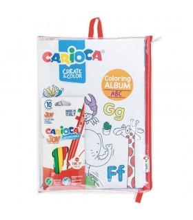 Set articole creative cu album pentru colorat Create & Color - ABC & Number CARIOCA