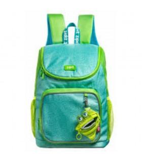 Rucsac cu buzunare laterale + portofel Wildlings Premium verde ZIPIT