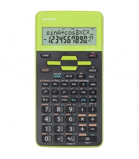 Calculator stiintific 10 digits 273 functiuni 161x80x15mm dual power EL-531THGR-negru/verde SHARP
