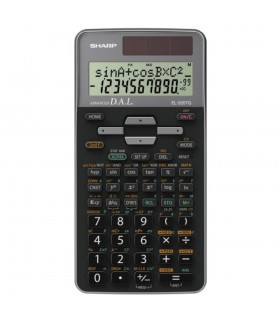 Calculator stiintific,10 digits 400+ functiuni 161x80x15 mm dual power EL-520TGGY - gri SHARP