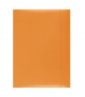Mapa din carton plastifiat cu elastic 300gsm - orange Office Products