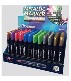 Display Supreme Metallic 1mm, 5 cul x 12 buc + 2 cul x 6 buc/display ARTLINE