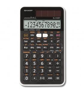 Calculator stiintific, 12 digits 273 functiuni 144x75x10 mm dual power EL-510RT - negru SHARP