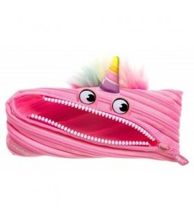 Penar cu fermoar Unicorn roz deschis ZIPIT