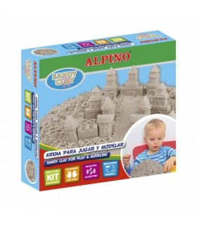 Kit nisip cleios 600gr + set accesorii, Sand Castels ALPINO