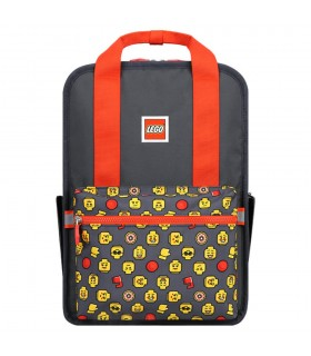 Rucsac Casual Tribini Fun Large - design Heads and Cup - rosu LEGO