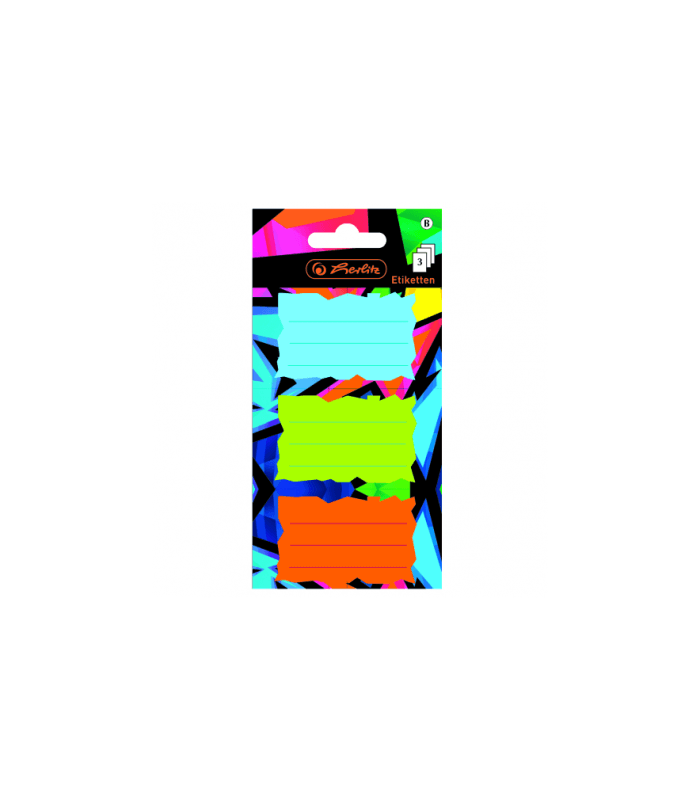 Etichete scolare Neon Art set 3x3 coli HERLITZ