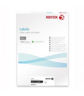 Etichete autoadezive, colturi rotunde, 100 coli/top, albe XEROX
