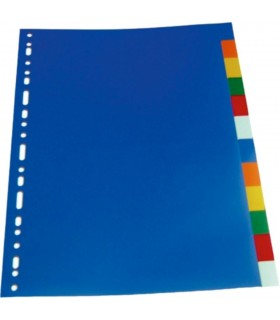 Separatoare plastic color A4 10 culori/set Optima