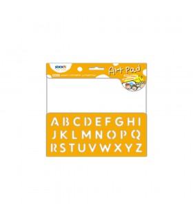 "Bloc desen autoadeziv 24 file/set Art Pad - alfabet Stick""n"