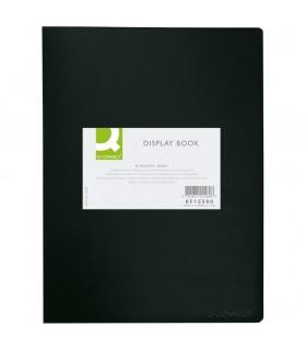 Dosar de prezentare A3 cu 20 folii coperta rigida PP negru Q-CONNECT