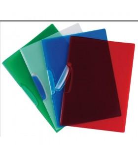 Dosar din plastic cu clema pivotanta diverse culori Q-CONNECT