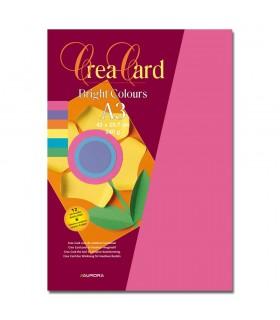 Carton color A3 - 12coli/set Raphael - 6 culori intense AURORA