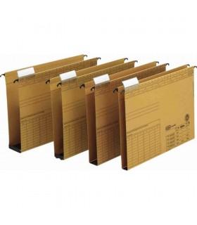 Dosar suspendabil cu burduf 20mm , carton 320g/mp, bagheta metalica,Vertic - kraft ELBA