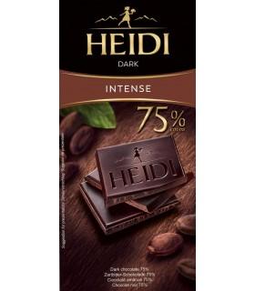 Ciocolata amaruie 75% cacao Dark 80 g HEIDI