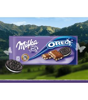 Ciocolata cu lapte si biscuiti Oreo 100 g MILKA