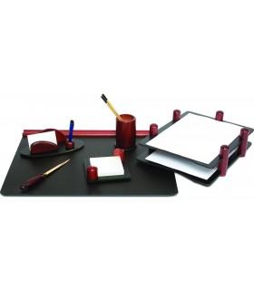 Set de birou din lemn mahon 6 piese FORPUS
