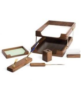Set de birou din lemn stejar 6 piese FORPUS