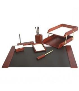 Set de birou din lemn 7 piese bordo FORPUS