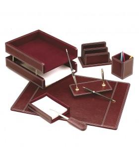Set de birou din piele ecologica bordo 7 piese FORPUS