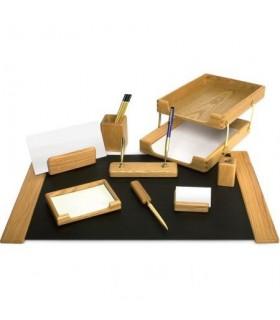 Set de birou din lemn stejar 10 piese FORPUS