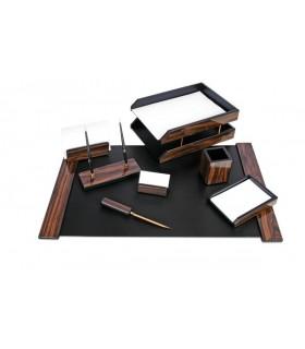 Set de birou din lemn abanos 8 piese FORPUS