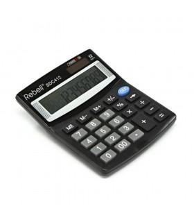 Calculator de birou 12 digits SDC 412 - negru Rebell