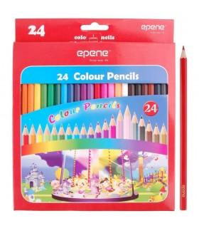 Creioane colorate corp hexagonal 24 culori/cutie EPENE